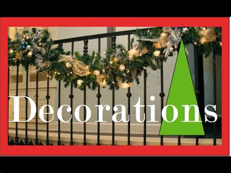 Christmas Garland On Banister Garlands On The Staircase And Banister Christmas