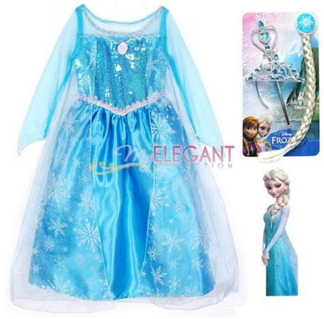 Ramadhan Sale Elsa disney frozen princess elsa children costume