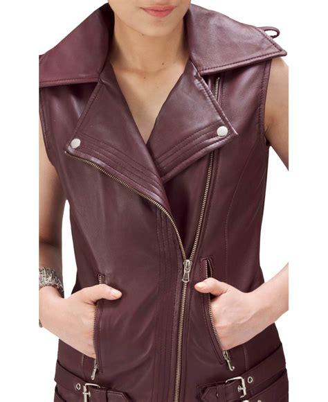 Vest Coat Maroon maroon rider leather vest jackets maker