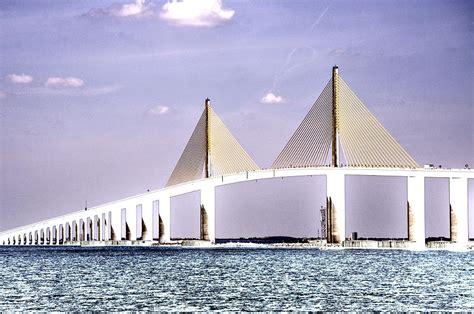 Home Decor Tampa Fl Sunshine Skyway Bridge Poster Look Tampa Bay Florida Usa