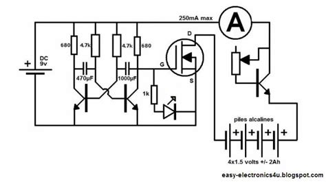 rechargeable battery circuit diagram charge your non rechargeable alkaline batteries new method