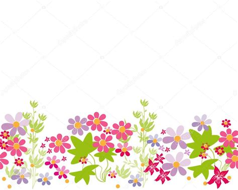 imagenes sin fondo flores flores horizontales dibujos animados patr 243 n de fondo
