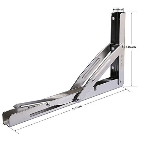 wall mounted folding table hardware goture stainless steel folding shelf bracket heavy duty