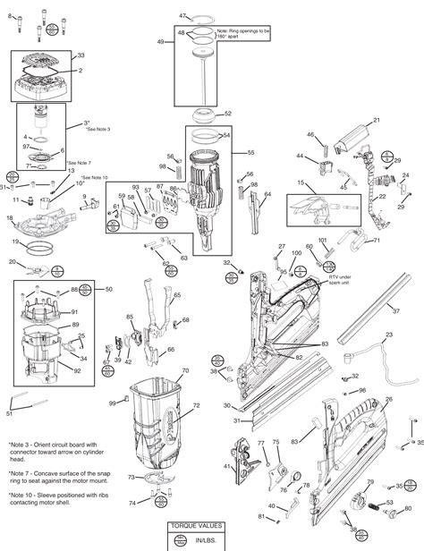 paslode framing nailer parts diagram paslode nail gun spares nail ftempo