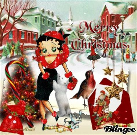 betty boop christmas card  traditional greeting featuring cute betty  card httpblngsb