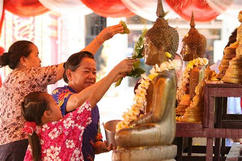 preparing for lao new year pi mai lao in luang prabang