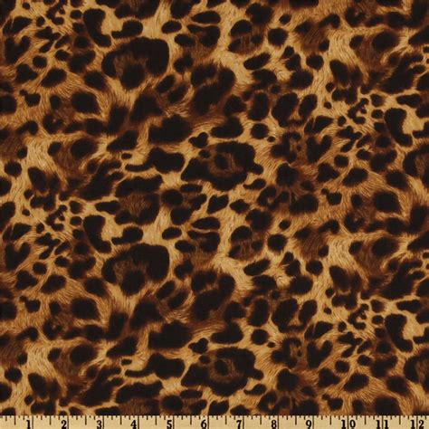 leopard fabric the wild side leopard natural