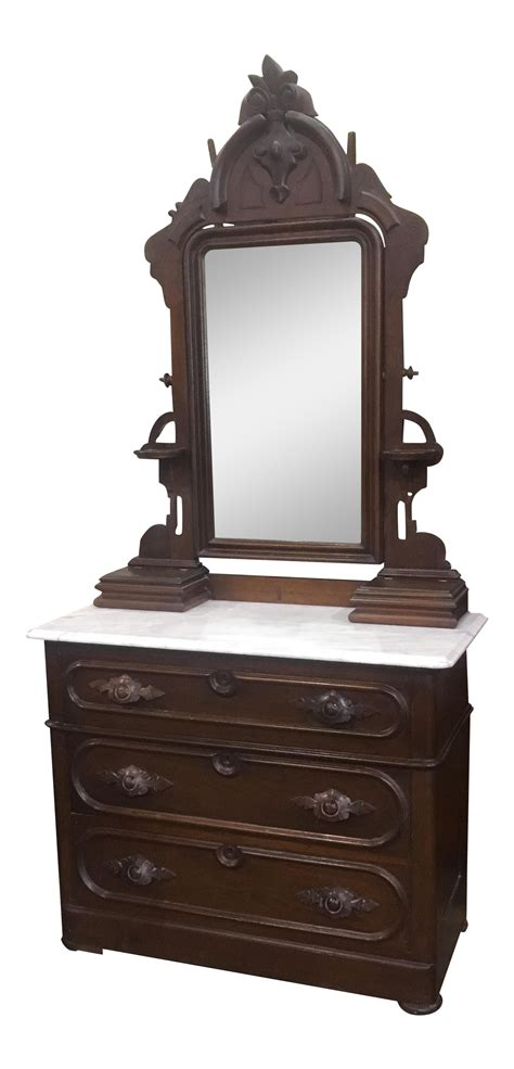 victorian dresser top mirror antique victorian marble top dresser with mirror