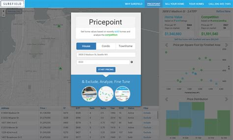 surefield releases new map based home pricing tool to