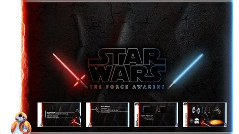 Star Wars The Force Awakens Powerpoint Template By Foxgguy2001 On Deviantart Wars Powerpoint Template