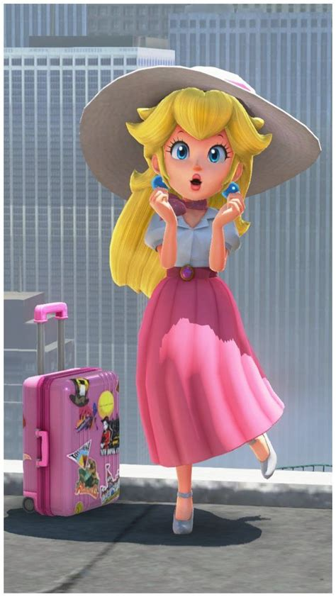With suitcase   Nintendo   Pinterest   Princess peach, Suitcase and Peach