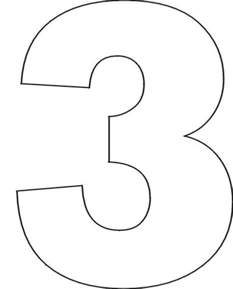 number 3 template 25 unique number stencils ideas on number