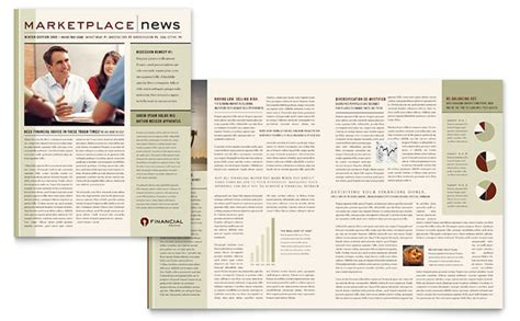 Finance Newsletter Financial Planner Newsletter Template Design