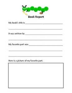 Elementary Book Report Template Elementary Book Report Education Pinterest