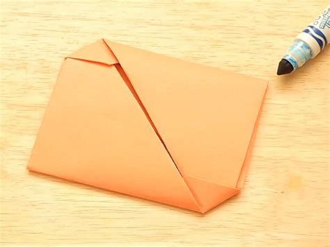 Folding Paper For Envelope - 2 easy ways to fold an origami envelope wikihow