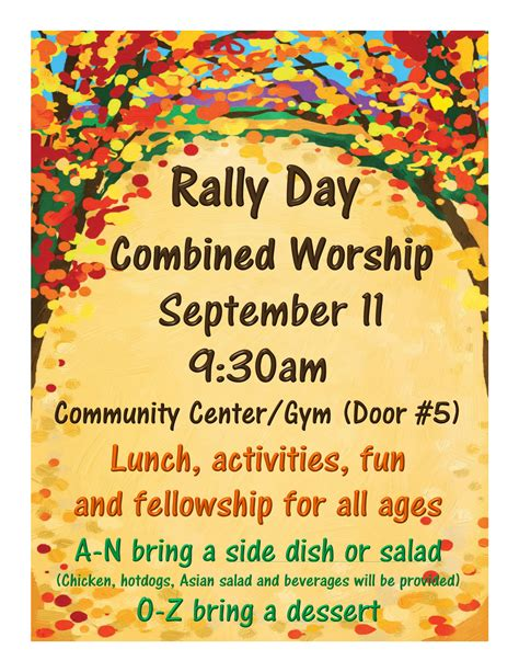 rally a personal growth bible study books rally day worship lunch and oslcs