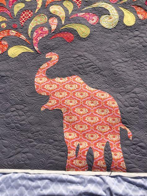 fabric elephant pattern free paisley splash elephant applique quilt quilts