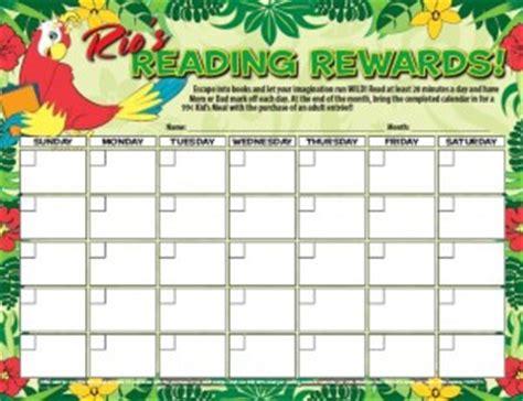 printable reward charts for reading rainforest cafe free printable incentive rewards charts