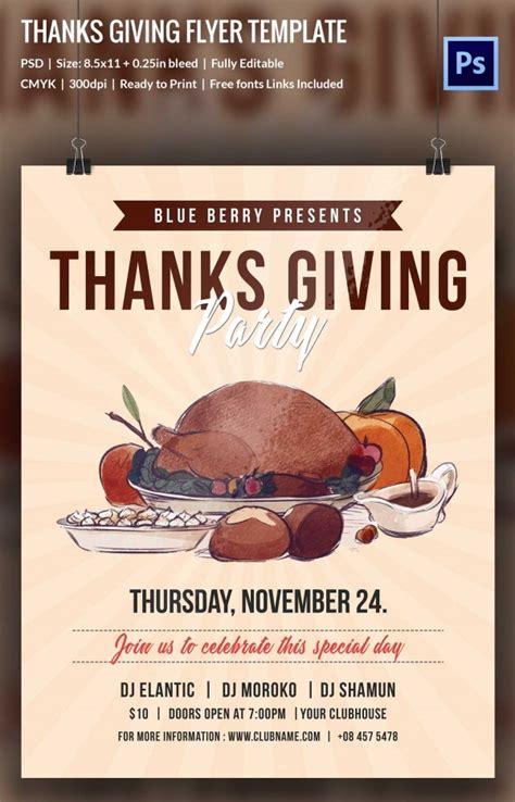 69 Thanksgiving Design Free Printable Thanksgiving Flyer Templates