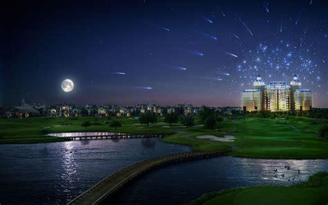 imagenes de paisajes en 3d paisaje nocturno 3d 1440x900 fondos de pantalla y