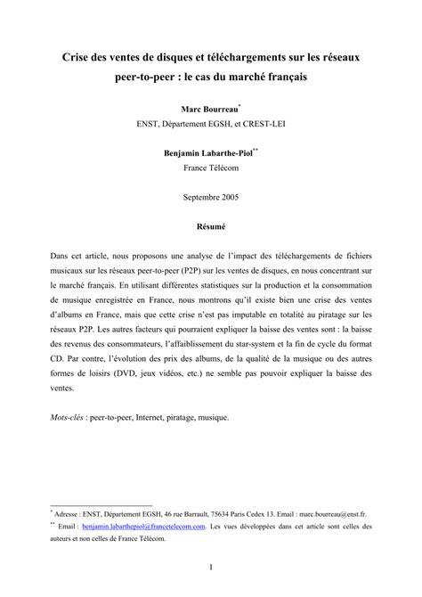 (PDF) Crise des ventes de disques et téléchargements sur