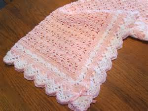 crochet baby blanket crib size heirloom lace boutique quality