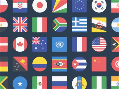 flags of the world website the flags of the world icon set by inktrap dribbble