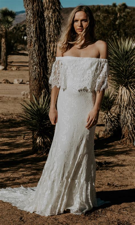 Shoulder Lace Wedding Dress eyelash lace the shoulder wedding gown laurence by dos