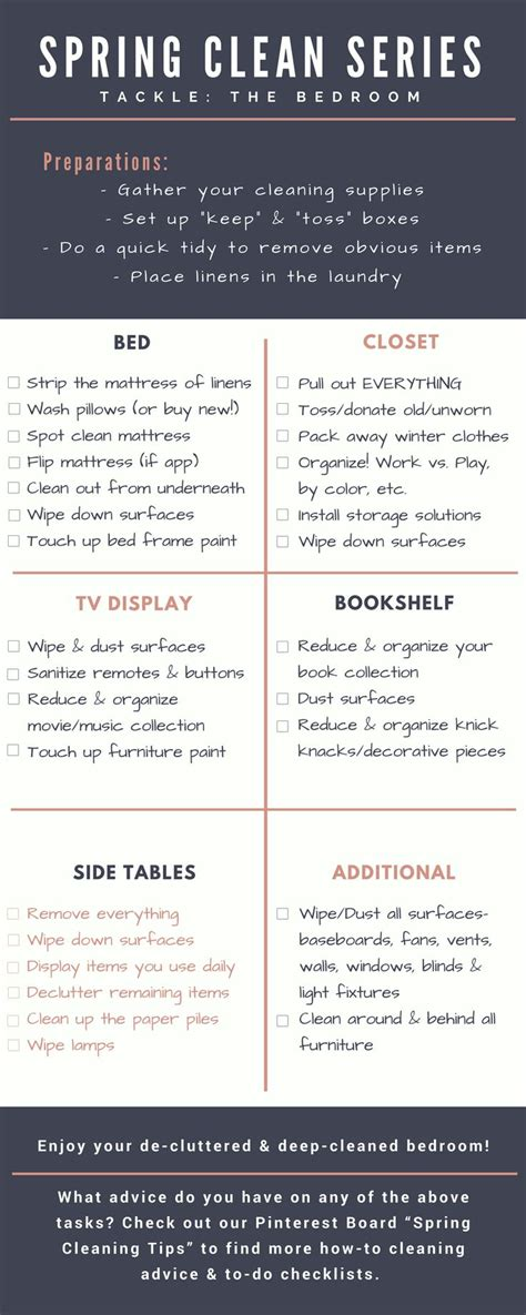 declutter bedroom checklist best 25 bedroom cleaning ideas on pinterest how to