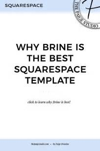 1518 Best Design Images On Pinterest Brand Design Brushes And Fonts Brine Template Squarespace