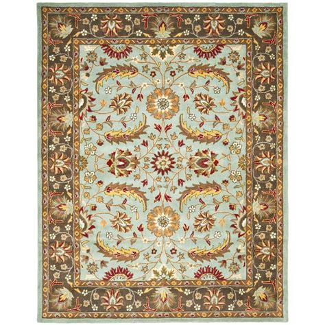 Blue Brown Area Rug Safavieh Heritage Blue Brown 8 Ft 3 In X 11 Ft Area Rug Hg962a 9 The Home Depot