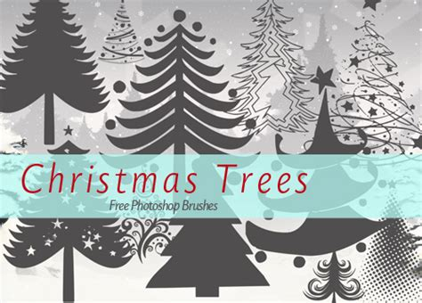 15 free christmas tree brushes for photoshop by