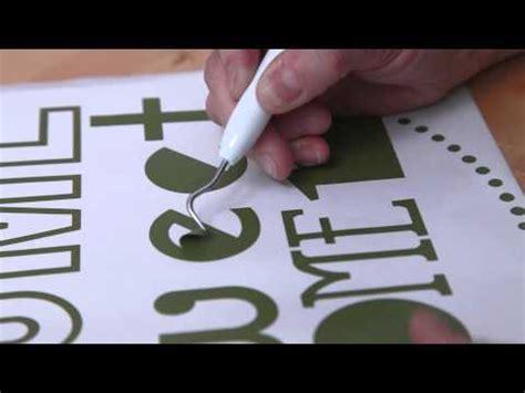 Essentials For Applying Vinyl - cutting materials cricut learn