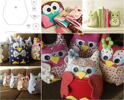 fabric crafts gifts creative ideas diy fabric owl ornaments with free