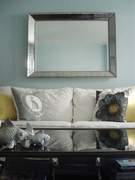 the mirror above the sofa home ideas