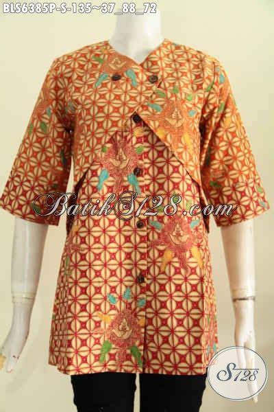 Rompi Modis Terkini pakaian batik wanita paling keren blus batik kombinasi