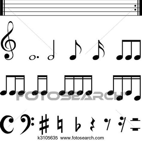 graphical design notation definition clipart of music notation symbols k3105635 search clip