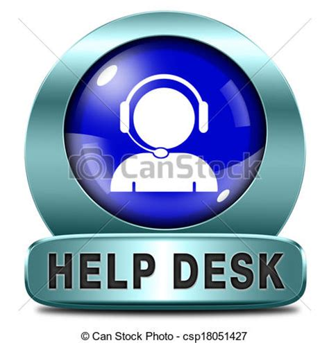usd it help desk clip of help desk icon or button or support