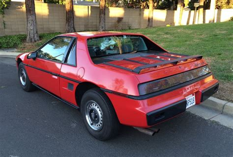 1984 Pontiac Fiero by 38k Mile 1984 Pontiac Fiero 2m4 4 Speed For Sale On Bat