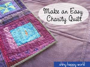 how to make an easy charity quilt a simple and