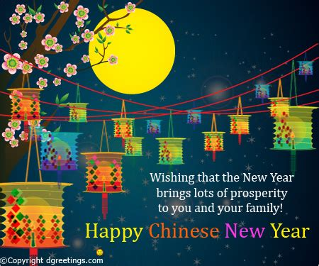 wishing that the new year chinese new year card