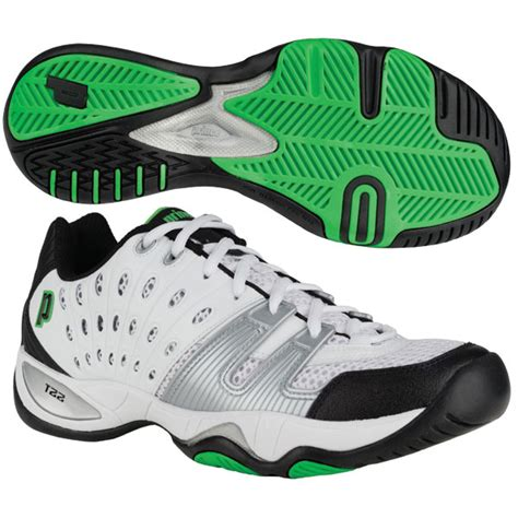 prince s t22 tennis shoes white black green from do