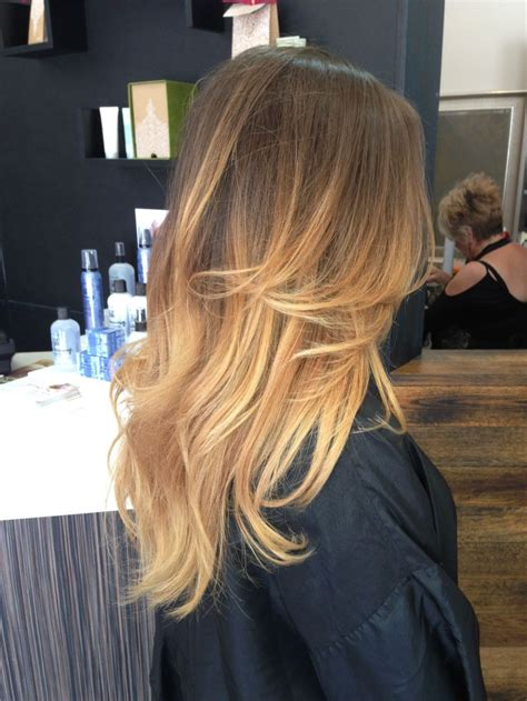 blonde colours ombre light brown to golden blonde ombre ombr 233 by briza