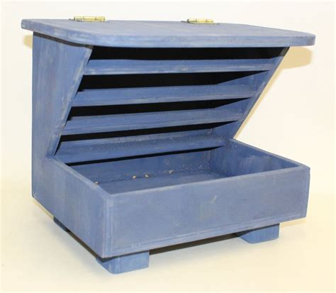 Rack Feeder by New Outdoor Ronseal Treated Blue Wooden Hay Rack Pet