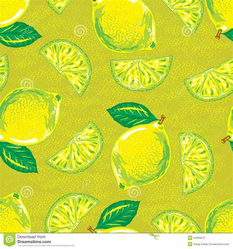 seamless lemon pattern seamless pattern of yellow lemon stock vector image