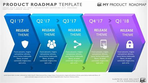 Free Project Roadmap Template Powerpoint Awesome Five Phase Business Strategy Timeline Roadmap Strategic Roadmap Template Powerpoint