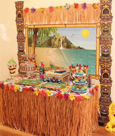 hawaiian table decorations ideas hawaiian luau with desert table and chic