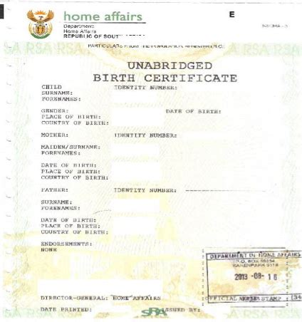 Time Of Birth Records Travelling With Unabridged Birth Certificates