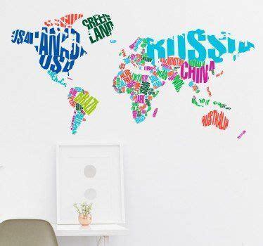 Sichtschutzfolie Fenster Globus by Die 25 Besten Wandtattoo Welt Ideen Auf