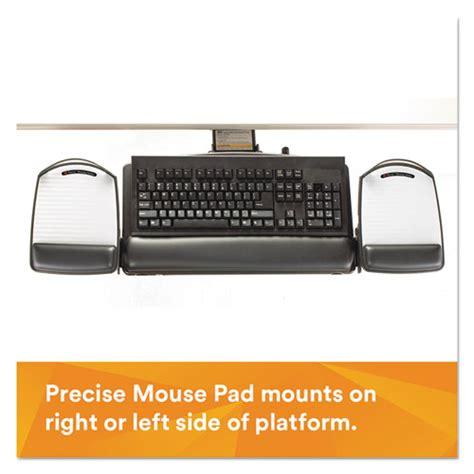 3m Desk And Office Cleaner Msds Positive Locking Keyboard Tray Highly Adjustable Platform 21 3 4 Quot Track Black